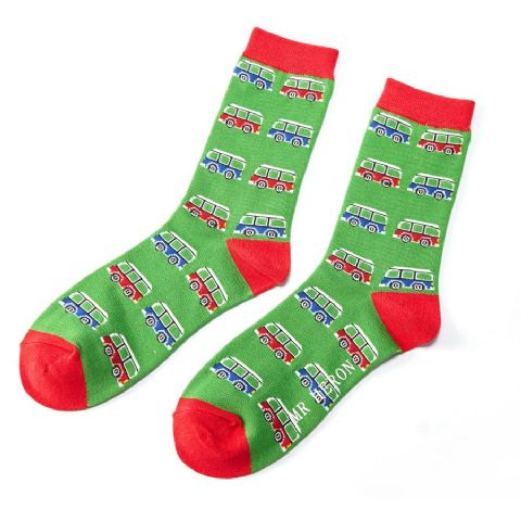 MENS CAMPERVAN SOCKS GREEN